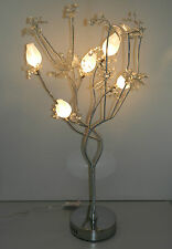 Large (80 CM ) Aluminium Metal Crystal Flower / Flexible / Floor /  Table Lamp