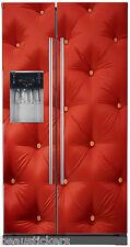 Adesivo frigo americano Effetto trapuntato rosso 714