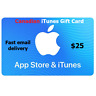 CANADIAN  ITUNES GIFT CARD MUSIC MOVIE APP TV  $25 FAST EMAIL DELIVERY