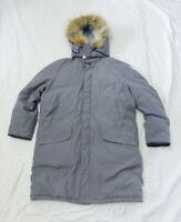 Mens DEACON BROTHERS Belleville Canada Grey Down Winter Parka Coat - Size Large