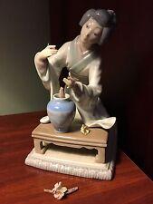 Lladro Figurine - Japanese Lady W/base & bench