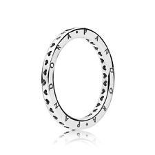 PANDORA Ring 197133 Herzring Beisteckring weite 56 925/- Sterlingsilber