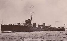 "Royal Navy Real Photo Postcard. HMS ""Tigress"" Destroyer. Photo: Cribb. 1911"