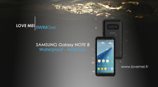 Coque Antichoc Waterproof SAMSUNG NOTE 8- LOVE MEI FRANCE - étanche - noir