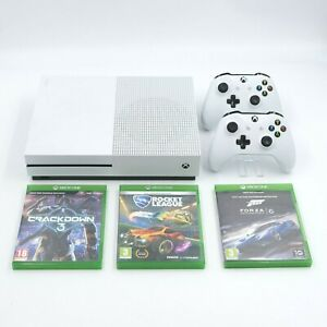 Xbox One S 500GB White Console With 2 Controllers & Games