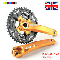 24/32/42t 104/64bcd Triple Speed MTB Bike Chainset 170mm Crank set Chainring