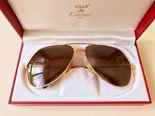 vintage CARTIER VENDOME LC Louis sunglasses LARGE gold plated, new lenses Tank