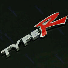 3D new TYPE R TYPER Chrome Emblem Trunk Badge Sticker Logo white+red