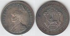 + Gertbrolen+ Deutsch Ostafrika  GuiIelmus II  1/2 Rupie Argent 1891  Rare Coin
