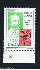 ITALIA 1 FRANCOBOLLO EUROPA CEPT CAMILLO GOLGI NOBEL MEDICINA 1994 nuovo**