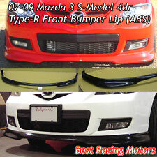 07-09 Mazda 3 4dr S-Model Type-R Style Front Bumper Lip (ABS)