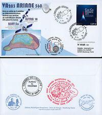 "VA203LT2 FDC KOUROU ""ARIANE 5 ECA Rocket - Flight 203 / ASTRA 1N / GAGARIN"" 2011"