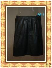 NEW  ANN TAYLOR Womens Black Leather Skirt Sz. 2