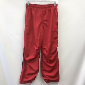 Starter Boys Size L 10 12 Athletic Pants Red Black Lined Elastic Waist Pockets