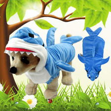 Pet Dog Halloween Shark Jaw Puppy Coat Jacket Costume Fancy Dress Cosplay Suits