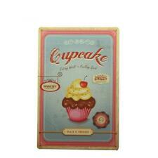 Metal Tin Sign Home Pub Plaque Cake Shop Bakery Cupcake Design Decor