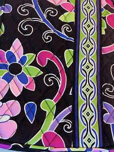 """Vera Bradley retired purple punch E-reader cover sleeve 9 1/2"""" x 6""""  colorful"""