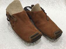 Privo Clarks Women US Sz 6 Slide non-slip on slide Sport Brown Tan Suede Leather