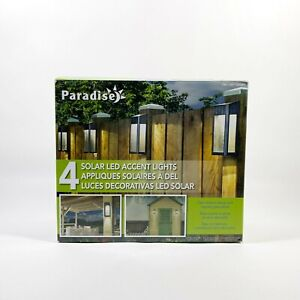 Paradise Solar Powered 4 LED Accent Lights 10 Lumens Cast-Aluminum Outdoor