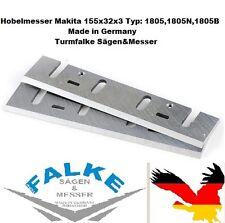 6 Stück Hobelmesser Makita 155x32x3 Typ: 1805,1805N,1805B