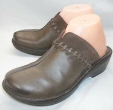 Born Womens Shoes Clogs US 8 M EU 39 Brown Leather Slip-On Wedges comfort