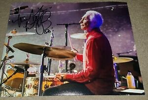 CHARLIE WATTS - ROLLING STONES SIGNED 10x8 PHOTO - MICK JAGGER