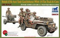 Bronco CB35170 1/35  British 6 Pdr Anti-Tank Gun With 1/4 Ton Truck&Crew