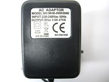 3A/3000MA 9V 27VA AC/AC OUTPUT POWER ADAPTOR/SUPPLY/CHARGER/TRANSFORMER