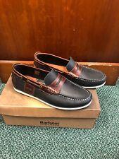 Men's Barbour Keel Boat Shoes - UK 8 - Navy leather