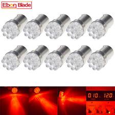 10 x RED BA15S 9 SMD LED 1156 Dual Filament Brake Stop Tail Light Bulb Globe 12v