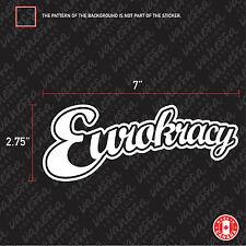 2X EUROKRACY sticker vinyl decal