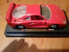 Burago 1:18 red Ferrari F40 (1987) with stand