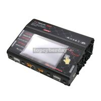 HTRC HT206 AC DC 400W RC Battery Balance Charger Discharge 2CH for RC LiPo LiFe