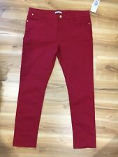 NWT Target Hot Options Skinny Ankle Grazer Red Jeans Size 14 (originally $39)