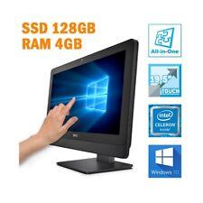 """PC COMPUTER DESKTOP FISSO AIO ALL IN ONE DELL 3030 19,5"""" TOUCHSCREEN 4GB 128GB-"""