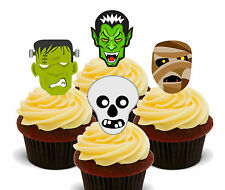 Halloween Monster Mix - Edible Cup Cake Toppers, Standup Fairy Bun Decorations