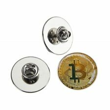 BIT COIN METAL PIN BADGE WITH 25mm LOGO