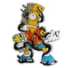 Bart Simpson Zombie Iron On Patch Sew on Embroidered transfer The Simpsons