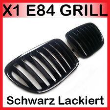 für BMW E84 X1 Nieren Grill Kühlergrill Schwarz Lackiert Glanz 2009 -