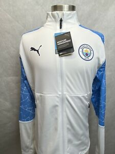 NEW! Puma Manchester City FC 1/4 Zip Pullover Jacket 2020-21 Mens Medium NWT $90