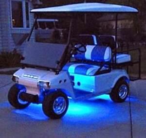 4pc LED BLUE GOLF CART KART NEON UNDERBODY UNDERGLOW LIGHT 12V CUSTOM WATERP