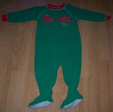Carter's Boy's Footed Pajama's Pj's Size 2T Christmas Santa Clause