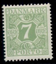 DENMARK #J13 (L14) 7ore Postage Due, og, NH, VF, Scott $47.00