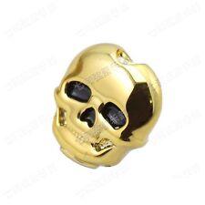 Set of 6 Pcs Plastic Golden Skull Head Guitar Tuning Peg Tuners Machine Heads