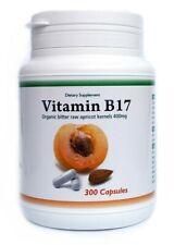 Organic Bitter Apricot Kernels Vitamin B17 400mg / 300 Capsules !!!