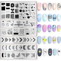 BORN PRETTY Stamping Templates Nail Art Image Stencil Plates French DIY Design