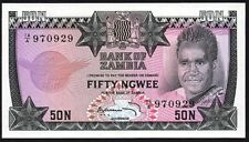 1973 Zambia 50 Ngwee Banknote * 14/A 970929 * UNC * P-14 *
