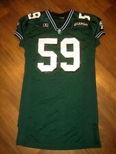 Vtg 90s Game Worn Tulane Green Wave R. Brewer Team Issue Football Player jersey