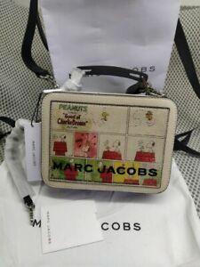 Genuine Marc Jacobs PEANUTS X The Mini Box Bag women crossbody bag sales...