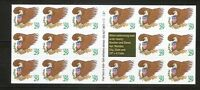 US SC # 2596a Eagle. P # S1111. Complete Booklet Unfolded. MNH
